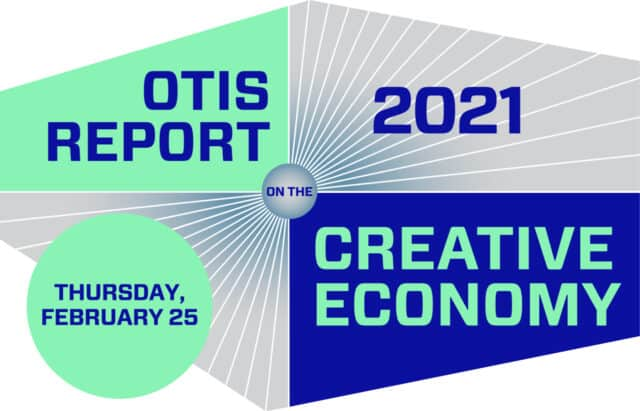 Cover of the 2021 Otis Report on the Creative Economy