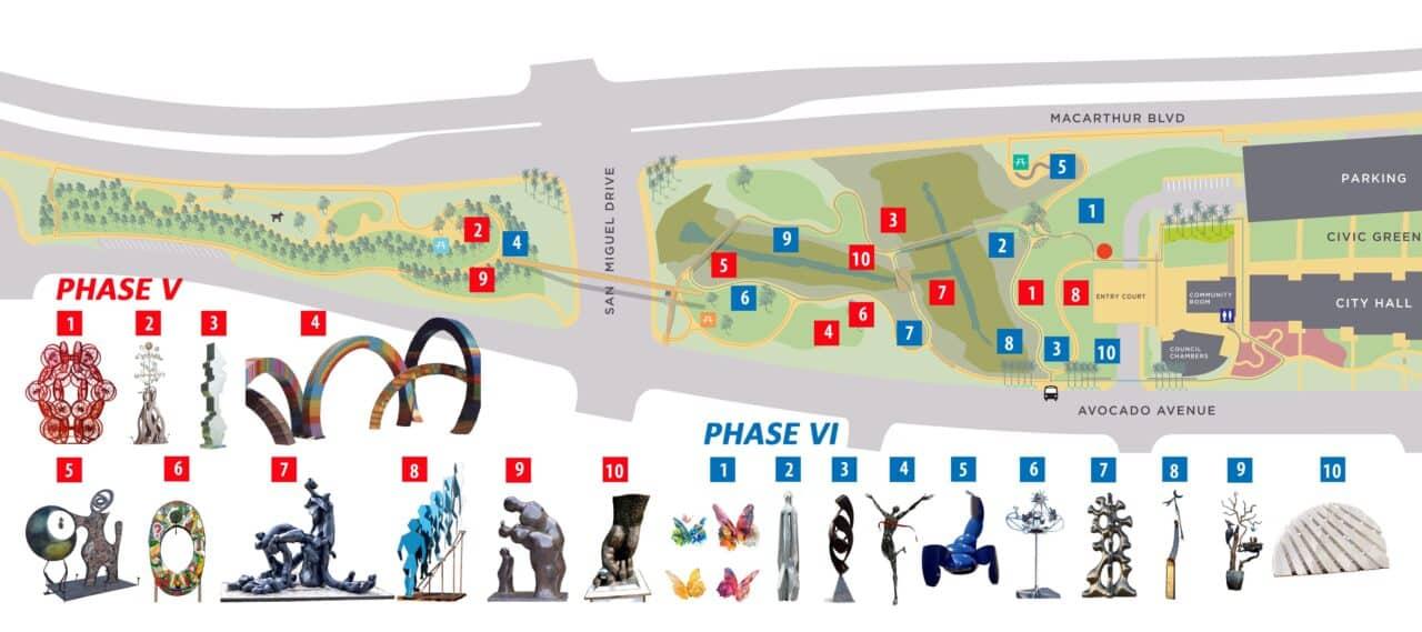 Sculpture Exhibition Map2019Vertical